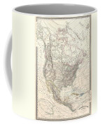 1857 Dufour Map Of North America Coffee Mug