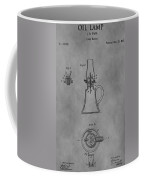 1861 Oil Lamp Patent Coffee Mug