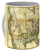 1861 United States Map Coffee Mug