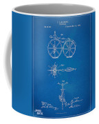 1866 Velocipede Bicycle Patent Blueprint Coffee Mug