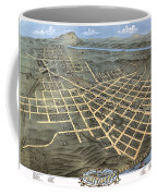 1871 Birds Eye Map Of Chattanooga Coffee Mug