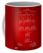 1873 Brewing Beer And Ale Patent Artwork - Red Coffee Mug