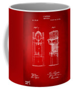 1876 Beer Keg Cooler Patent Artwork Red Coffee Mug
