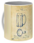 1876 Beer Mug Patent Artwork - Vintage Coffee Mug
