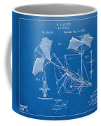1879 Quinby Aerial Ship Patent - Blueprint Coffee Mug by Nikki Marie Smith