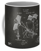 1879 Quinby Aerial Ship Patent - Gray Coffee Mug by Nikki Marie Smith