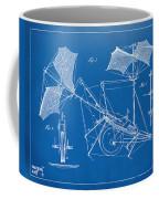 1879 Quinby Aerial Ship Patent Minimal - Blueprint Coffee Mug