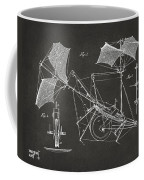 1879 Quinby Aerial Ship Patent Minimal - Gray Coffee Mug by Nikki Marie Smith