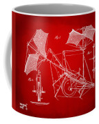 1879 Quinby Aerial Ship Patent Minimal - Red Coffee Mug by Nikki Marie Smith