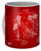 1879 Quinby Aerial Ship Patent - Red Coffee Mug