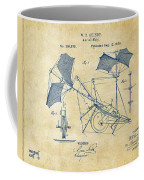 1879 Quinby Aerial Ship Patent - Vintage Coffee Mug by Nikki Marie Smith