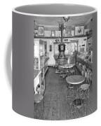 1880 Drug Store Black And White Coffee Mug