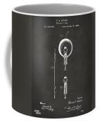 1880 Edison Electric Lamp Patent Artwork - Gray Coffee Mug