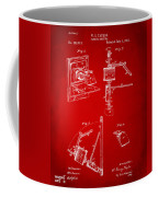 1881 Taylor Camera Obscura Patent Red Coffee Mug