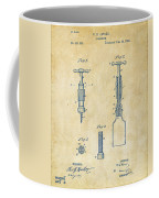 1884 Corkscrew Patent Artwork - Vintage Coffee Mug
