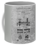 1885 Beer Tap Patent Charcoal Coffee Mug