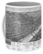 1886 Vintage Map Of Waco Texas Coffee Mug