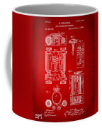 1889 First Computer Patent Red Coffee Mug