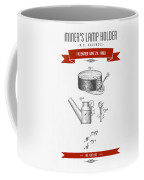 1890 Miners Lamp Holder Patent Drawing - Retro Red Coffee Mug