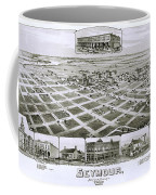 1890 Vintage Map Of Seymour Texas Coffee Mug