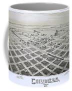 1890 Vintage Map Of Childress Texas Coffee Mug