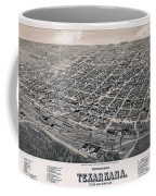 Vintage Perspective Map Of Texarkana Coffee Mug