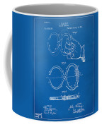 1891 Police Nippers Handcuffs Patent Artwork - Blueprint Coffee Mug by Nikki Marie Smith