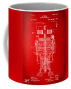 1894 Tesla Electric Generator Patent Red Coffee Mug by Nikki Marie Smith
