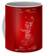 1896 Dental Chair Patent Red Coffee Mug