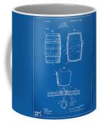 1898 Beer Keg Patent Artwork - Blueprint Coffee Mug