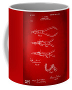 1903 Dental Pliers Patent Red Coffee Mug
