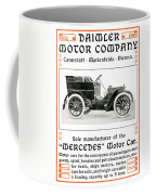 1904 - Daimler Motor Company Mercedes Advertisement - Color Coffee Mug