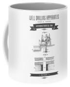 1906 Well Drilling Apparatus Patent Drawing - Retro Gray Coffee Mug