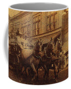 1908 Nickel-plated  Nott Steamer Fire Truck July 4th Parade East Congress Tucson Arizona 1909-2009 Coffee Mug