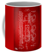 1909 Flute Patent In Red Coffee Mug