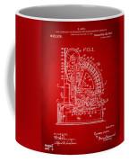 1910 Cash Register Patent Red Coffee Mug