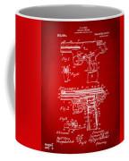 1911 Automatic Firearm Patent Artwork - Red Coffee Mug