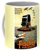 1913 - Fischer Magneto German Advertisement Poster - Color Coffee Mug