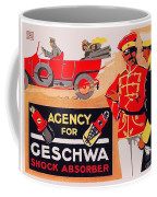 1913 - Geschwa Automobile Shock Absorber Adbertisement - Color Coffee Mug