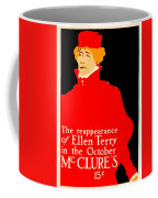 1913 - Mcclures Magazine Poster Advertisement - Ellen Terry - Color Coffee Mug