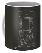 1914 Beer Stein Patent Artwork - Gray Coffee Mug