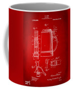1914 Beer Stein Patent Artwork - Red Coffee Mug by Nikki Marie Smith