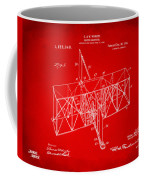 1914 Wright Brothers Flying Machine Patent Red Coffee Mug
