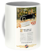 1916 - Willys Overland Roadster Automobile Advertisement - Color Coffee Mug