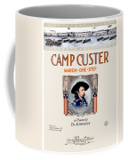 1917 - Camp Custer March One Step Sheet Music - Edward Schroeder - Color Coffee Mug