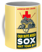 1918- Red Cross Poster - World War One - Color Coffee Mug