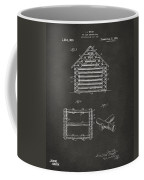 1920 Lincoln Log Cabin Patent Artwork - Gray Coffee Mug by Nikki Marie Smith