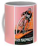 1921 - Van Hauwaert Bicycle Belgian Advertisement Poster - Color Coffee Mug