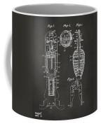 1921 Explosive Missle Patent Minimal Gray Coffee Mug