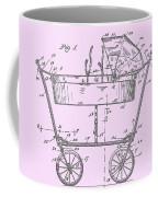 1922 Baby Carriage Patent Art Pink Coffee Mug